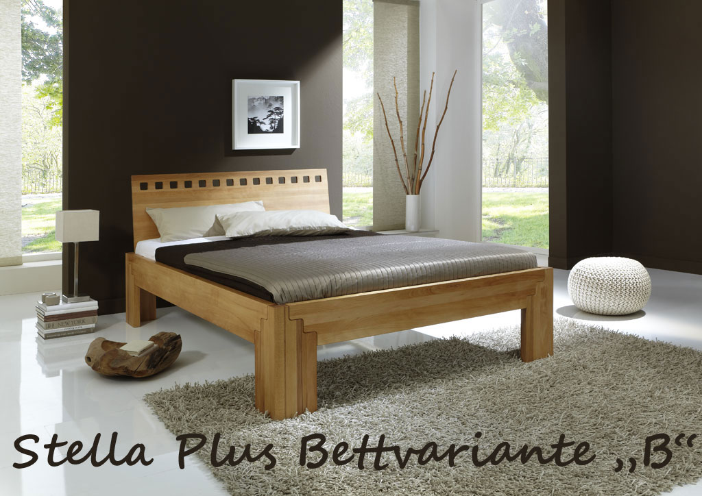 bett stella buche massiv metallfreies stecksystem. Black Bedroom Furniture Sets. Home Design Ideas