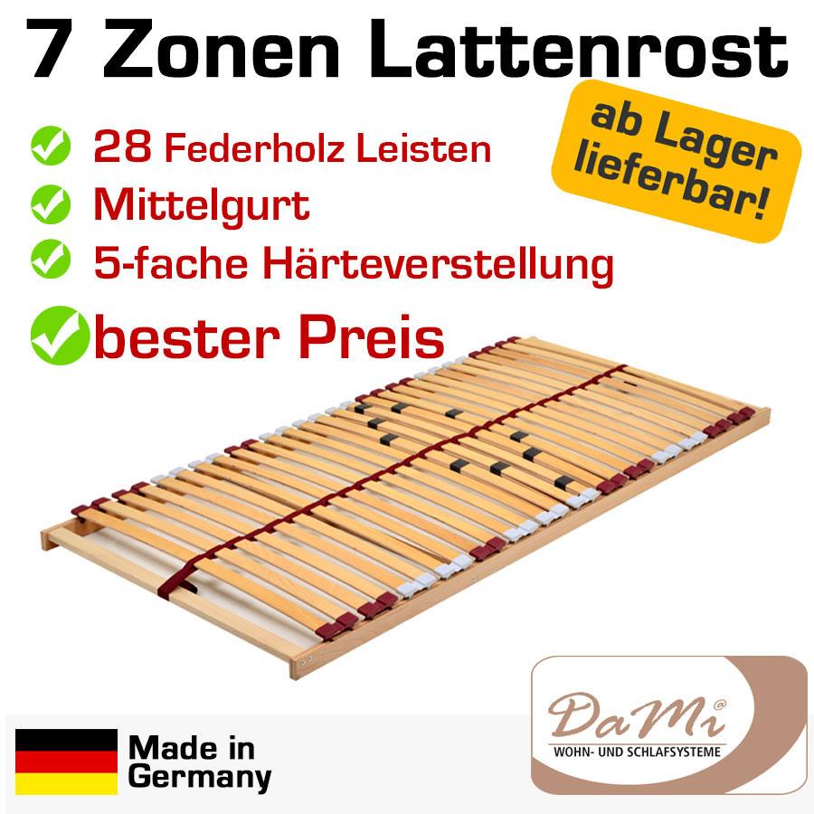 7 zonen buche lattenrahmen lattenrost 90x200 basic nv ebay. Black Bedroom Furniture Sets. Home Design Ideas