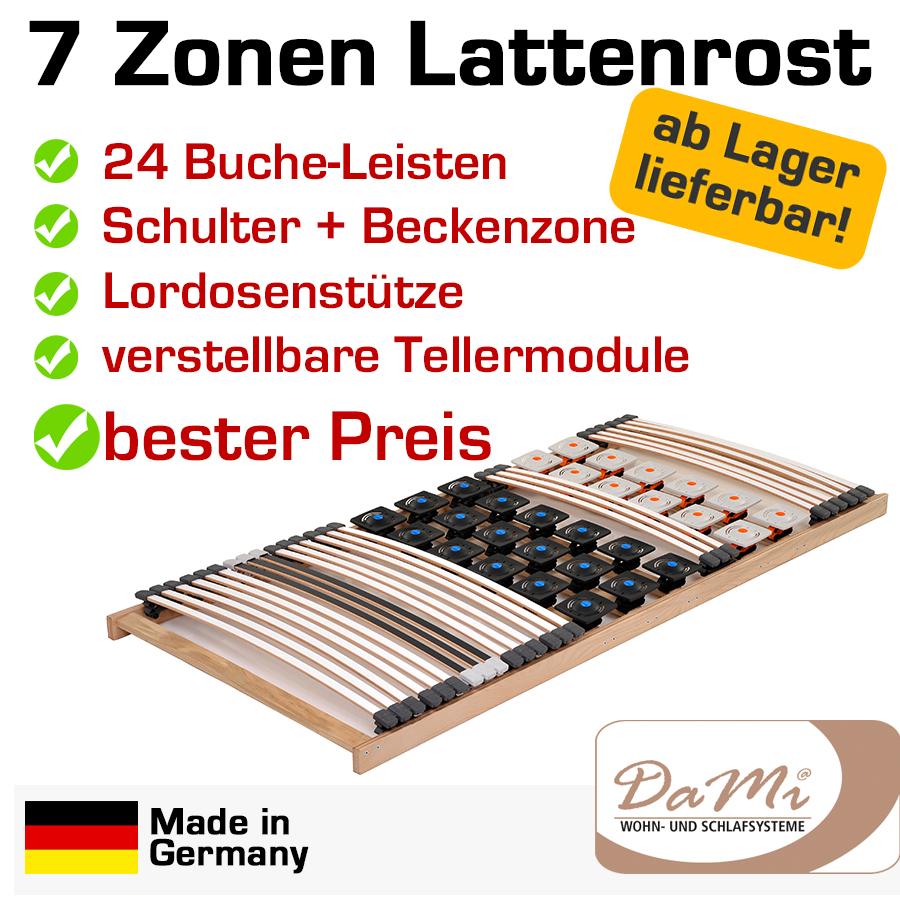 7 zonen buche teller lattenrost 80x200 mediflex t400. Black Bedroom Furniture Sets. Home Design Ideas