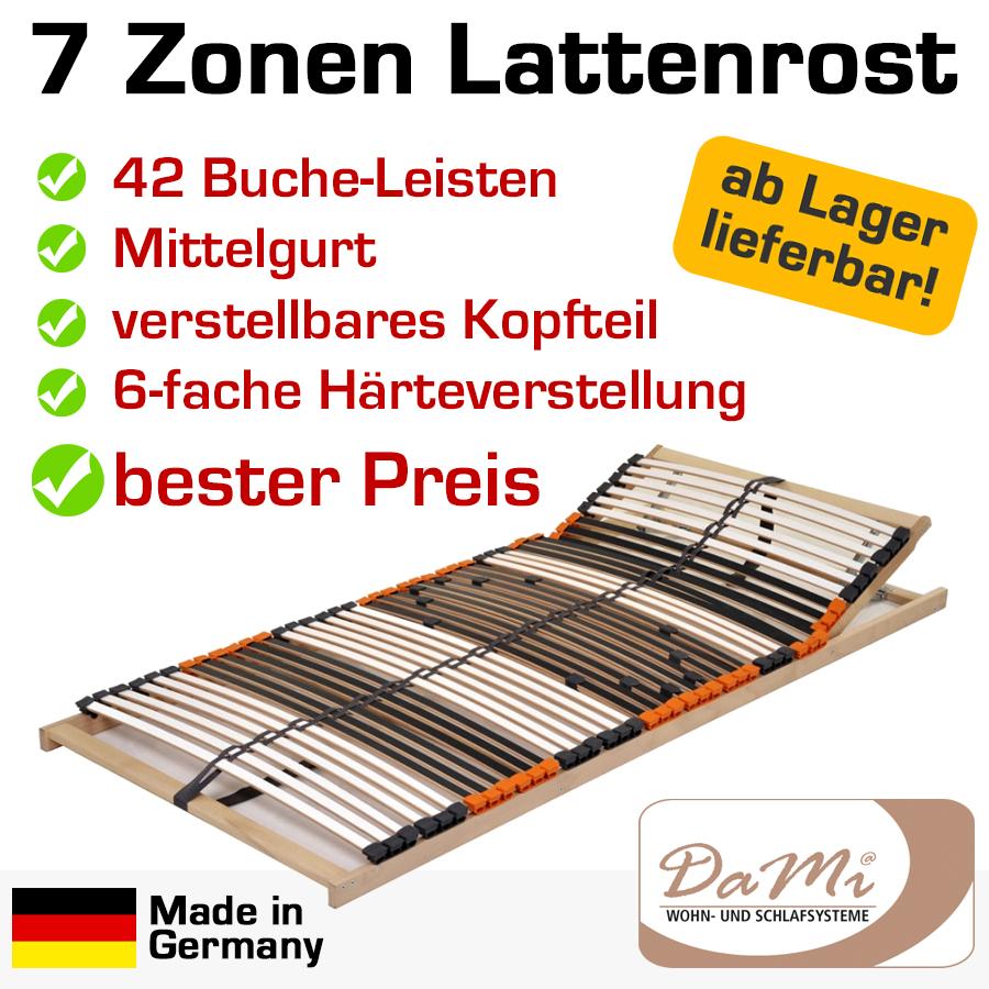 7 zonen buche lattenrost 42 leisten dami relax ebay. Black Bedroom Furniture Sets. Home Design Ideas
