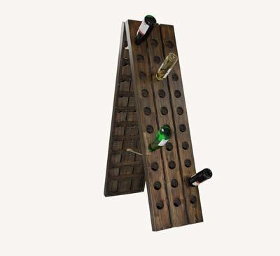 weinregal aus akazie f r 18 36 oder 60 flaschen ebay. Black Bedroom Furniture Sets. Home Design Ideas