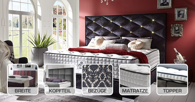 Matratzen kaltschaummatratzen visco matratzen for Boxspringbett konfigurieren