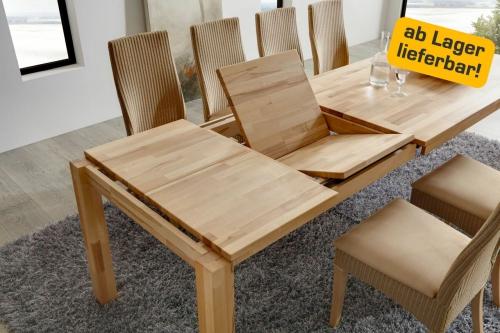 Ikea Jugendbett Zum Ausziehen ~ Tisch Esstisch Funktionstisch ausziehbar FT160 00 Kernbuche massiv