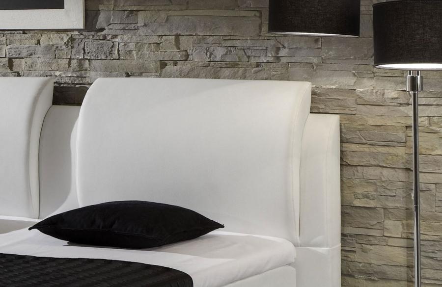motorverstellbares kunstleder boxspringbett bett. Black Bedroom Furniture Sets. Home Design Ideas