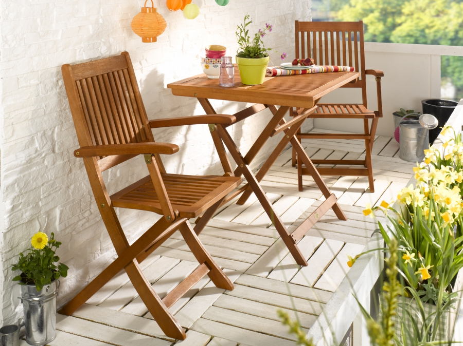 3tlg balkonset bistroset 2 x klappsessel 1x klapptisch 70x70cm terrasse ebay. Black Bedroom Furniture Sets. Home Design Ideas
