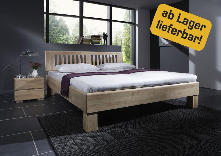dico massivholzbett avantgarde bett eiche wildeiche natur gebleicht holzbett ebay. Black Bedroom Furniture Sets. Home Design Ideas