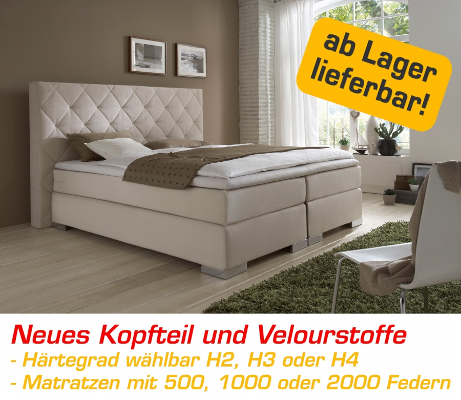 boxspring bett boxspringbett komfortbett hotelbett 180 200 x 200 ebay. Black Bedroom Furniture Sets. Home Design Ideas