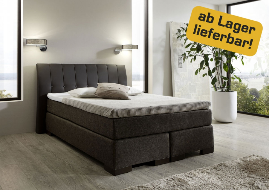 boxspring bett boxspringbett komfortbett hotelbett 140 160 180 200 x 200 cm ebay. Black Bedroom Furniture Sets. Home Design Ideas