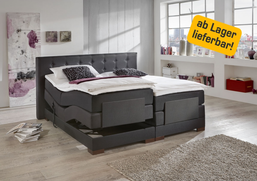 motorverstellbares boxspringbett bett amerikanisches bett komfortbett 3 farben ebay. Black Bedroom Furniture Sets. Home Design Ideas