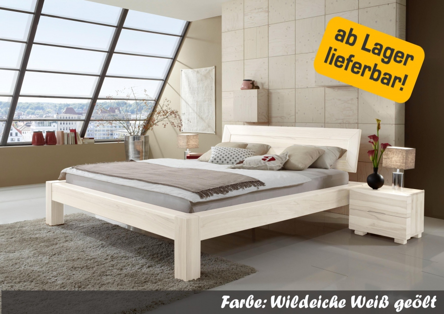 dico massivholzbett antonia bett wildeiche wei ge lt. Black Bedroom Furniture Sets. Home Design Ideas