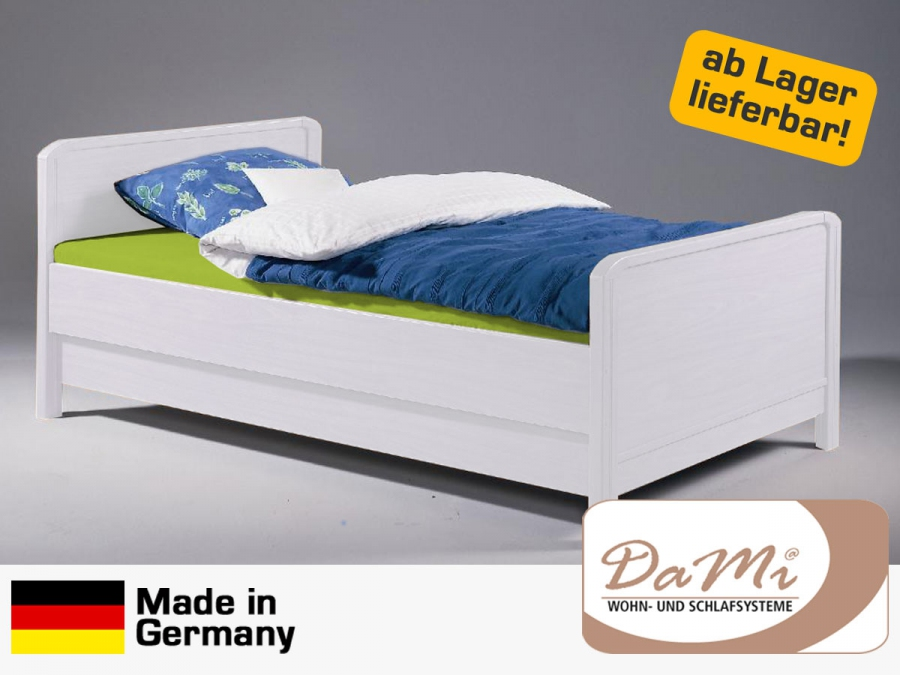bett holzbett mdf 90 100 120 x 200 cm kinderbett wei sofort lieferbar ebay. Black Bedroom Furniture Sets. Home Design Ideas