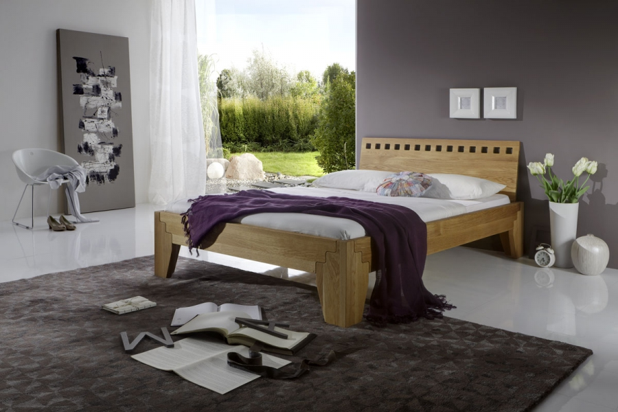 stella plus eiche massiv bett ge lt mettallfreies. Black Bedroom Furniture Sets. Home Design Ideas