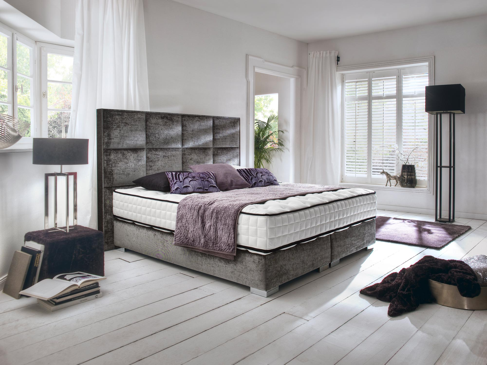 boxspringbett kingston farbe und stoff nach wahl. Black Bedroom Furniture Sets. Home Design Ideas