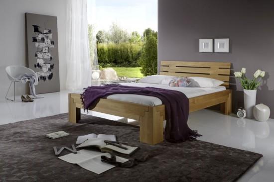 bett stella plus eiche massiv metallfreies stecksystem. Black Bedroom Furniture Sets. Home Design Ideas