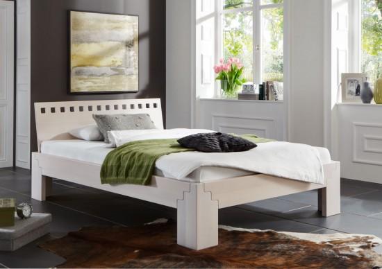 bett stella buche massiv wei lasiert metallfreies stecksystem. Black Bedroom Furniture Sets. Home Design Ideas