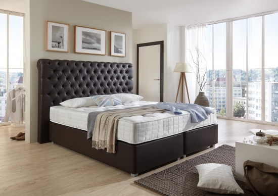boxspringbett silverline 180 cm x 200 cm. Black Bedroom Furniture Sets. Home Design Ideas