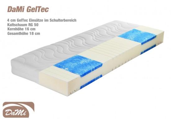 geltec 7 zonen kaltschaummatratze 180x200 cm. Black Bedroom Furniture Sets. Home Design Ideas