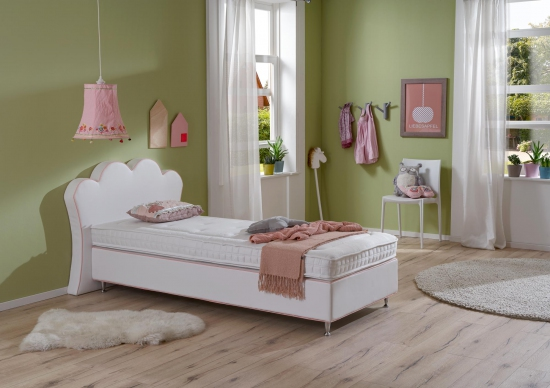 kinder boxspringbett princess 90cm x 200cm. Black Bedroom Furniture Sets. Home Design Ideas