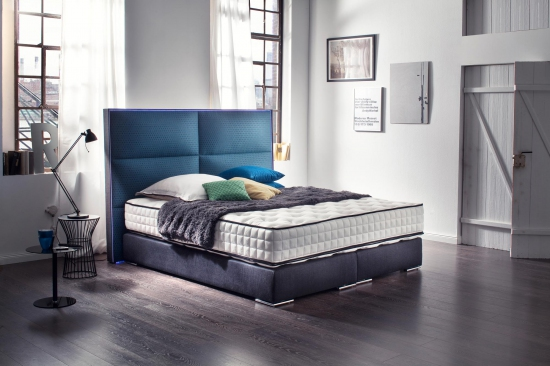 boxspringbett quadro direkt vom hersteller stoffe nach wahl. Black Bedroom Furniture Sets. Home Design Ideas