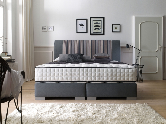 boxspringbett alano direkt vom hersteller stoffe nach wahl. Black Bedroom Furniture Sets. Home Design Ideas