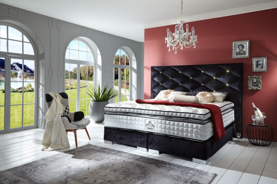 boxspringbett ravenna direkt vom hersteller stoffe nach wahl. Black Bedroom Furniture Sets. Home Design Ideas