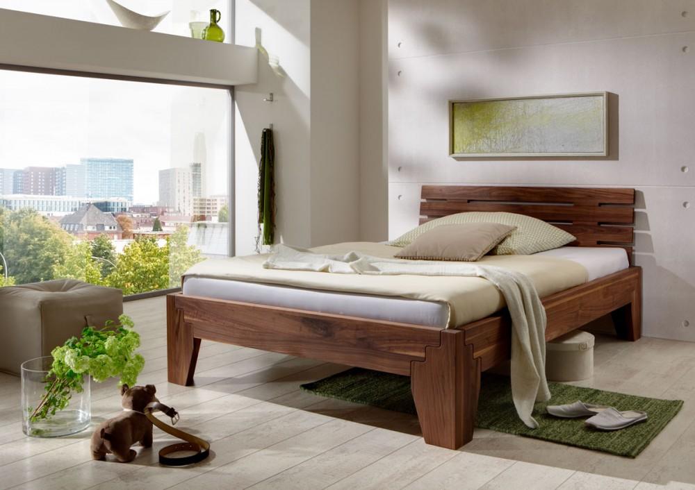 bett stella nussbaum massiv metallfreies stecksystem. Black Bedroom Furniture Sets. Home Design Ideas